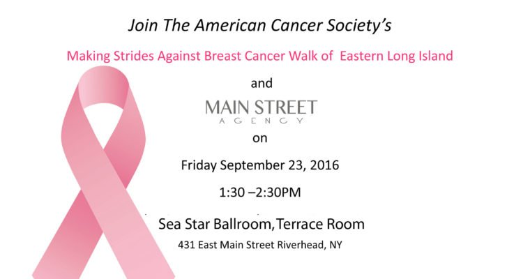 "Main Street Agency supports ""Turn Riverhead PINK"""